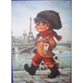 gavroche-le-voyou-dessin-de-michel-thomas-1972-cartes-postales-873078061_ML